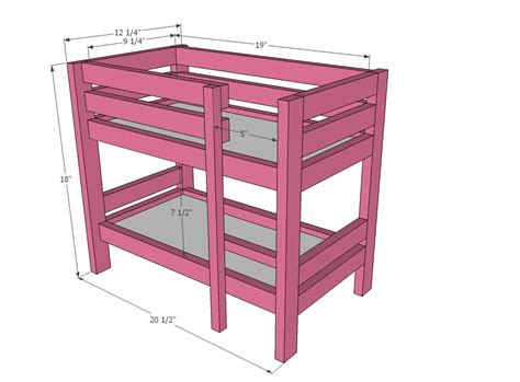 doll loft bed plans  woodworking
