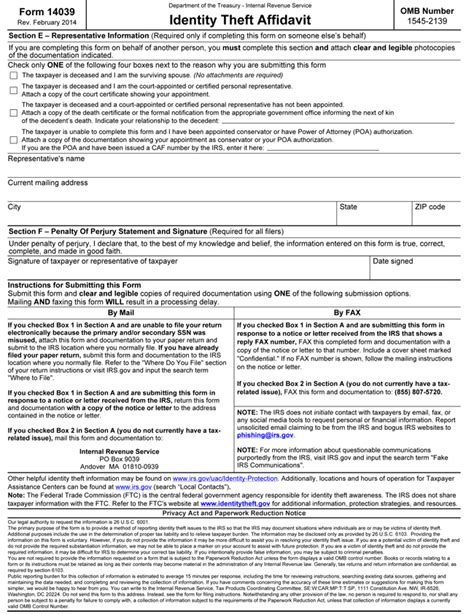 affidavit of identity theft form irs identity theft forms national affinity services