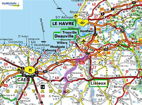 Carte Normandie Michelin by Carte Michelin Trendyyy