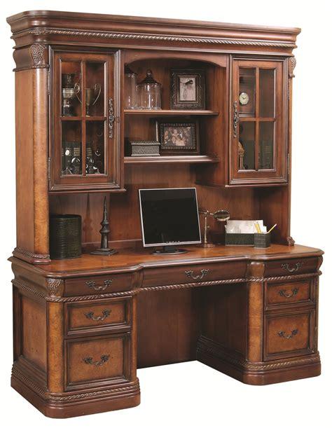 aspen home desk and hutch aspenhome napa 72 inch kneehole computer credenza