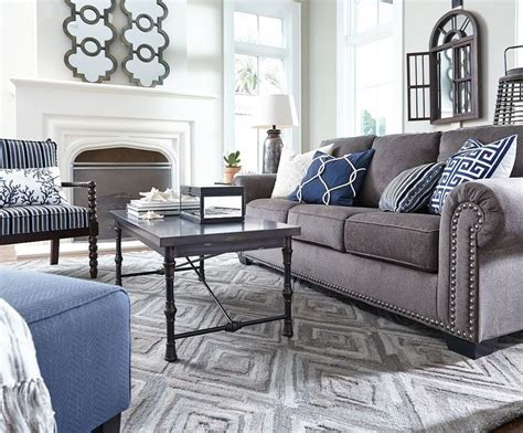 Decorating Ideas For Living Room With Grey Sofa by Image Result For Grey And Navy Living Room Navy Living
