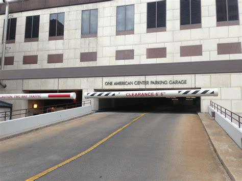 garage en tx one american center parking garage parking in