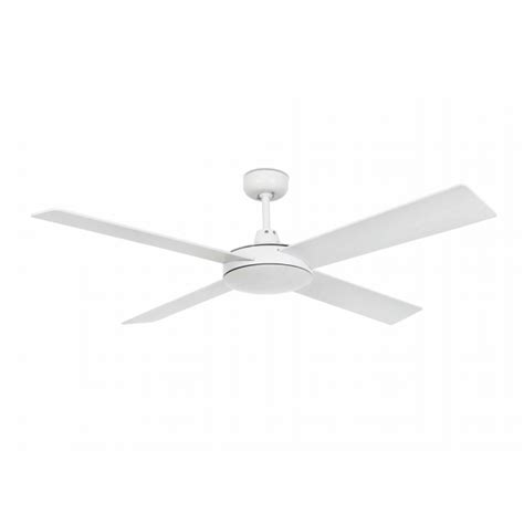 ceiling fan in white with remote