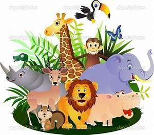 cartoon baby animals | Vector Animal cartoon | Stock ...