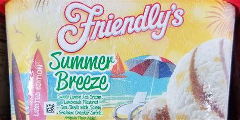 friendlys summer breeze ice cream brings beachy flavors