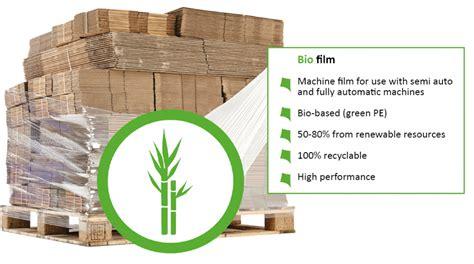 replace  plastic pallet wrap  eco friendly sugar cane bio film blog kite packaging