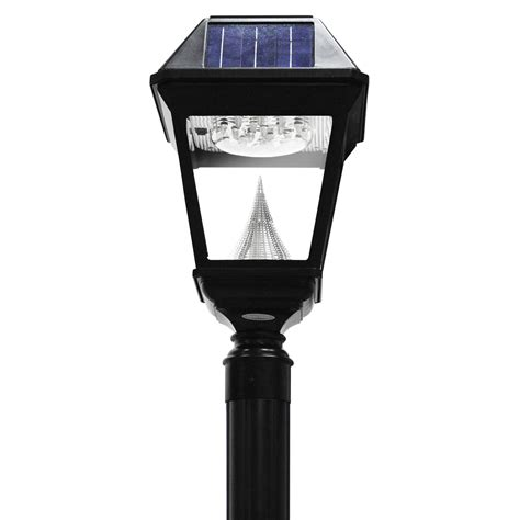 solar post lights imperial ii series single solar l and l post gs