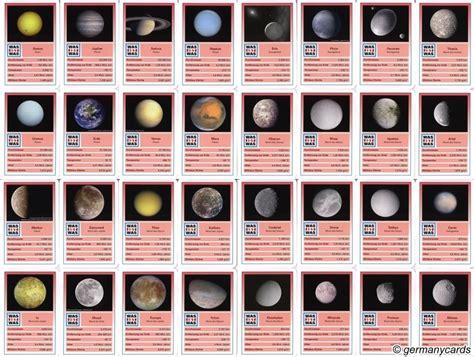 quartett kartenspiel kosmos  sterne und planeten