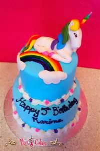 Rainbow Unicorn Birthday Cake Girl