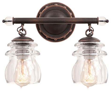 Antique Bathroom Lighting Fixtures by Kalco Lighting 6312ac Brierfield Antique Copper 2 Light