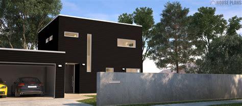 Zen Cube 3 Bedroom   Garage   HOUSE PLANS NEW ZEALAND LTD