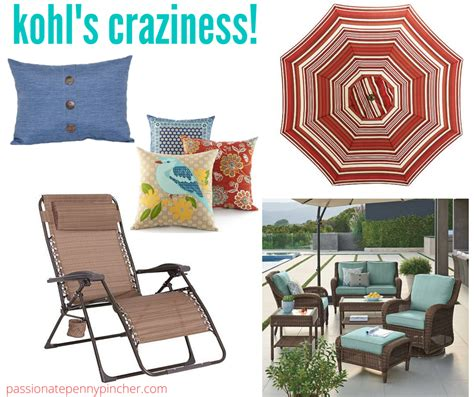 Kohls Patio Table Umbrella by Kohl S Craziness Patio Pillows Market Umbrella
