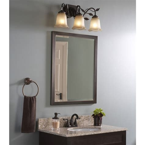 Rubbed Bronze Mirrors Bathroom by Shop Allen Roth 30 In H X 24 In W Rubbed Bronze