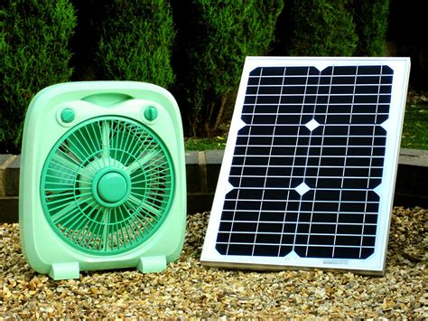 solar powered box fan pk green solar powered 12v dc fan with 20w panel ebay