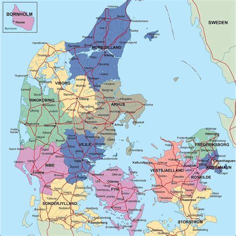 kaart denemarken jutland mirahs