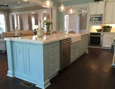turquoise kitchen island kitchen with turquoise aqua blue island coastal kitchen 2969
