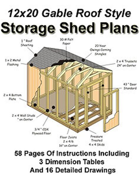 12 x 24 gable shed plans koras free blueprints for a 10x12 shed