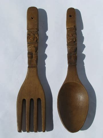 wood fork and spoon wall wooden spoon and fork wall decor vintage but decorative