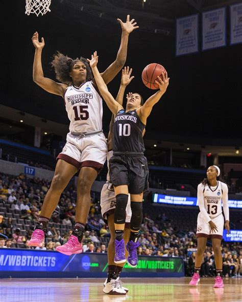 huskies fall  mississippi state  kelsey plums record