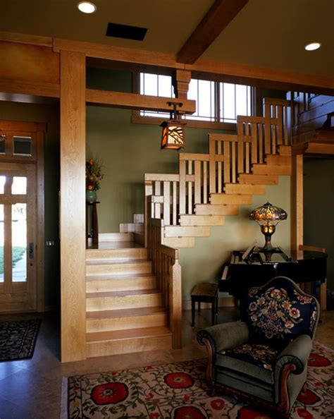 elegant craftsman style interiors  give warmth