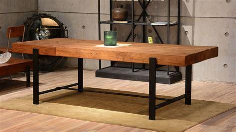 industrial looking dining room tables industrial wood modern rustic dining table industrial
