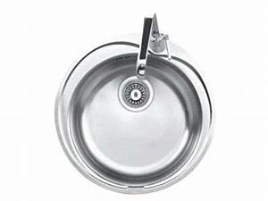 Petit évier Cuisine : evier cuve ronde en inox roxy vente de evier et mitigeur conforama ~ Preciouscoupons.com Idées de Décoration