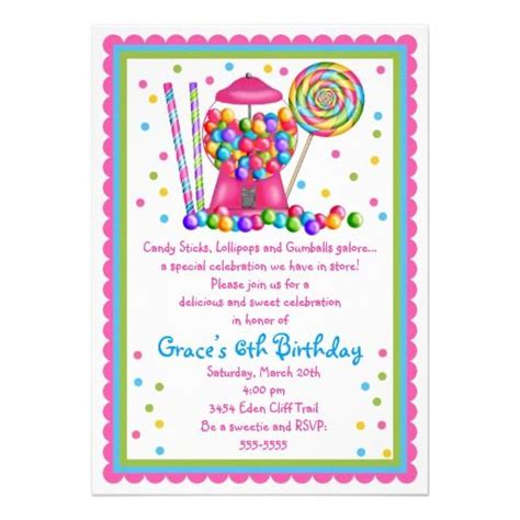 10+ Ideas About Candy Invitations On Pinterest Candy
