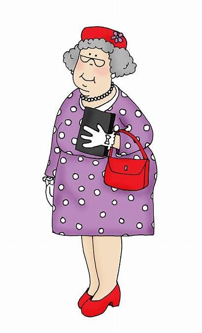 Church Lady Clipart Ladies Grammy Clip Elderly