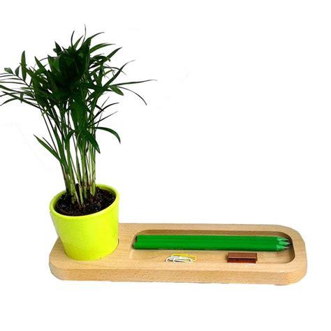 plante pour le bureau plateau bois avec plante au bureau objet publicitaire nature