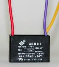 ceiling fan capacitor 3 wire ebay