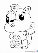 Hatchimals Coloring Pages Skunkle Draw Printable Step Drawing Print Tutorials Drawingtutorials101 Then Bettercoloring sketch template