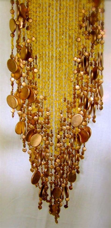 Champagne Gold Basket Bead Curtain   Memories of a Butterfly