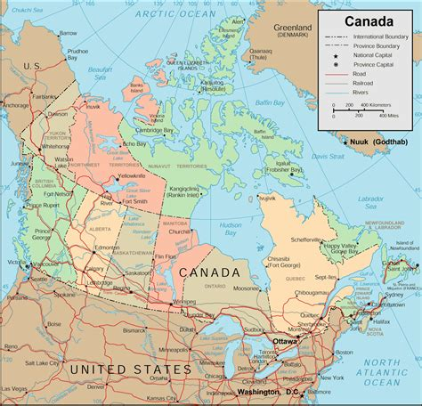 map  canada regional city   wolrd maps  canada