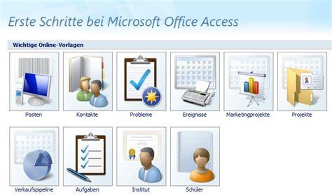access datenbankvorlagen verwenden office lernencom
