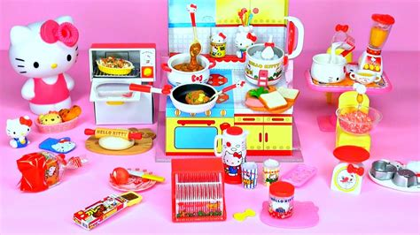 hello kitty kitchen set sanrio x re ment hello kitty quot i cooking quot set happy