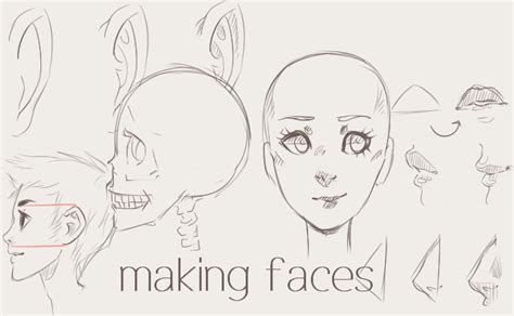 making faces tutorial  twin tail  deviantart