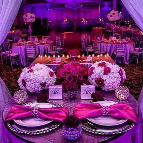 fuchsia wedding table decorations beautiful sweetheart table our future wedding d