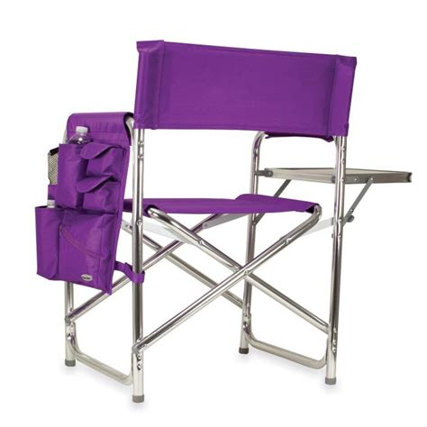 picnic time purple portable folding sports cing chair