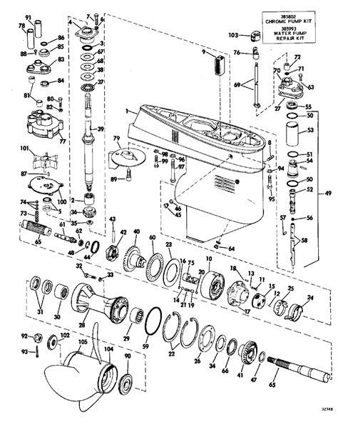 Mercruiser Lower Unit Diagram by Mercury Outboard Motor Lower Unit Diagram Impre Media