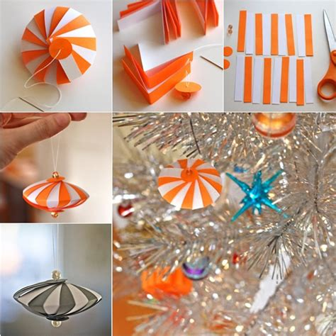 step by step how to make christmas decor wonderful diy easy striped paper ornament