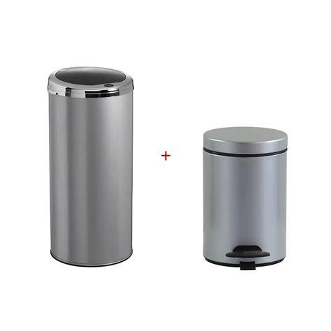 poubelle cuisine rossignol poubelle de cuisine automatique 45 l poubelle salle de