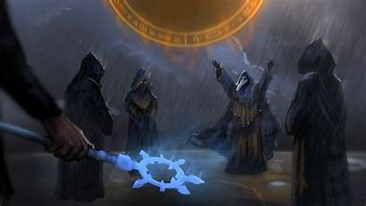 Terraria Cultists Fantasy Painting Cultist Forest Cult