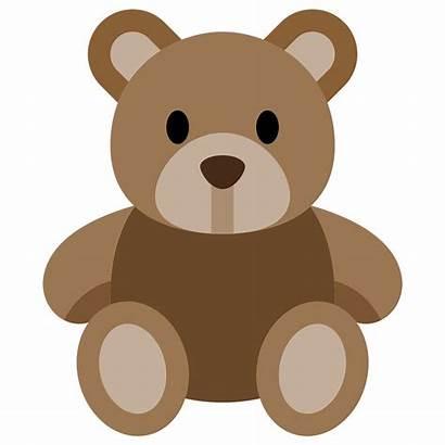 Bear Clipart Stuffed Teddy Ursinho Animals Transparent