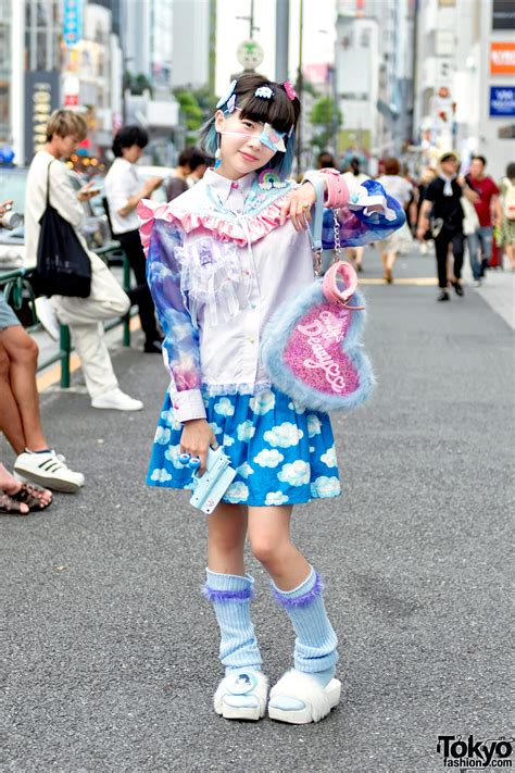 harajuku girl  pastel weapon fluffy heart bag loose socks cute fashion tokyo fashion