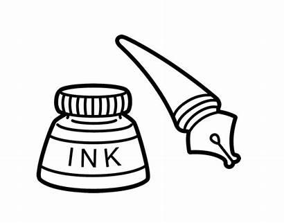 Pen Coloring Ink Pages Fountain Pens Pot