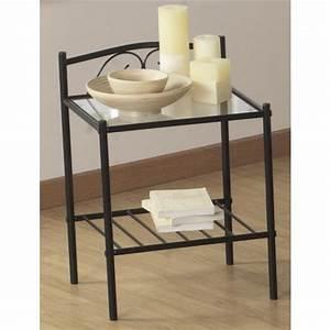 Table De Chevet Metal : table de chevet metal noir achat vente table de chevet ~ Melissatoandfro.com Idées de Décoration