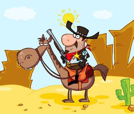 western sheriff zeichnung als poster und kunstdruck von