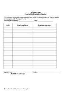safety training log template