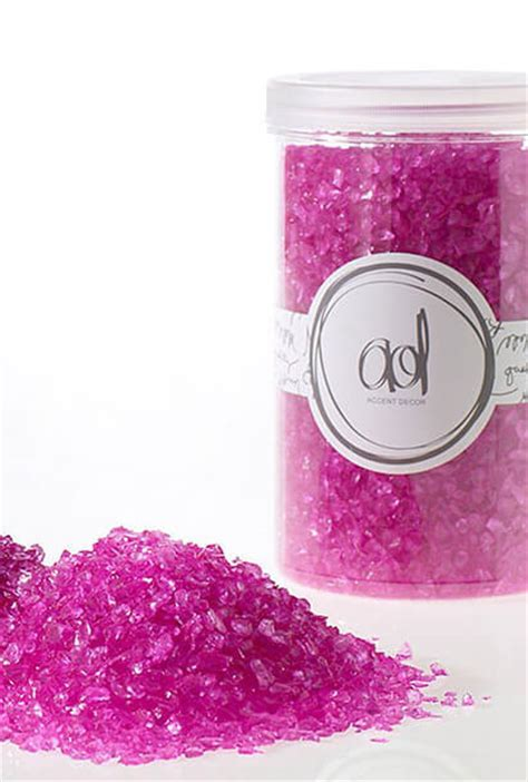 crushed glass  mm oz hot pink vase fillers