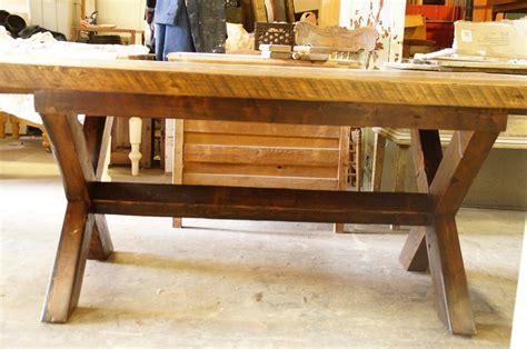table de cuisine 100 vieux bois n 1003 le g 233 ant antique